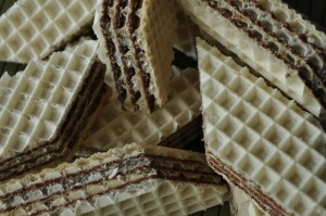 wafle tortowe z masą kakaową