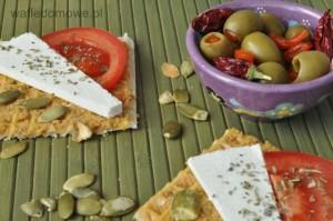 Wafle z pastą oliwkową 2