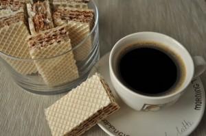 Wafle kawowe