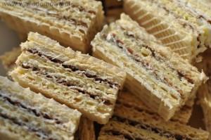Wafle kakaowo-śmietankowe