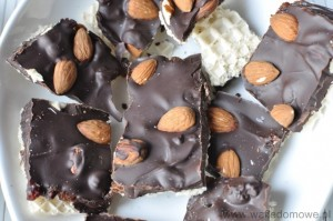 Wafle z gorzka czekolada